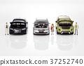 자동차,비즈니스맨,비즈니스우먼,모형 37252740