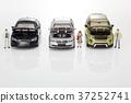 자동차,비즈니스맨,비즈니스우먼,모형 37252741