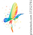 Abstract colorful fantasy bird 37252791