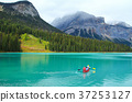 People conoeing on the Emerald Lake 37253127