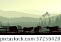 Horizontal illustration of farm pets. 37256420