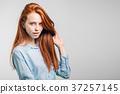 紅發女 美麗 漂亮 37257145