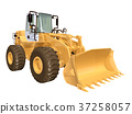 Wheel loader isolated on white background 37258057
