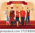 hotel, staff, composition 37258808