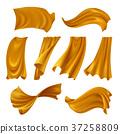 cloth, fluttering, gold 37258809