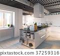 modern kitchen interior. 37259316