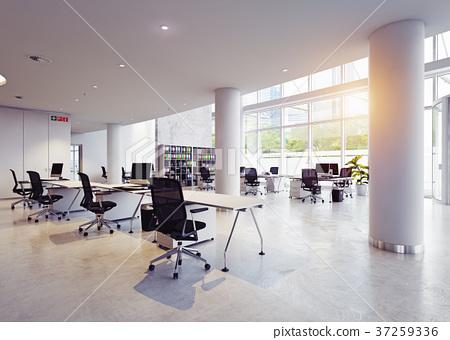 modern office building interior. 37259336
