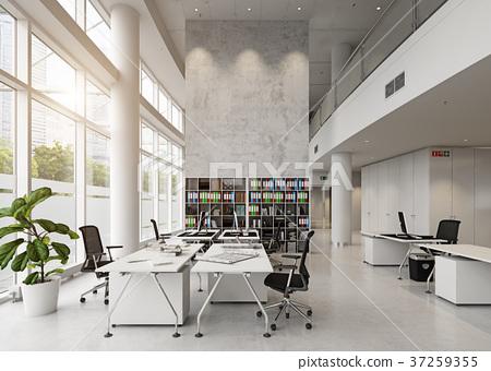 modern office building interior. 37259355