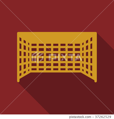 Football goal in flat style with shadow 37262529
