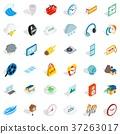 Time icons set, isometric style 37263017
