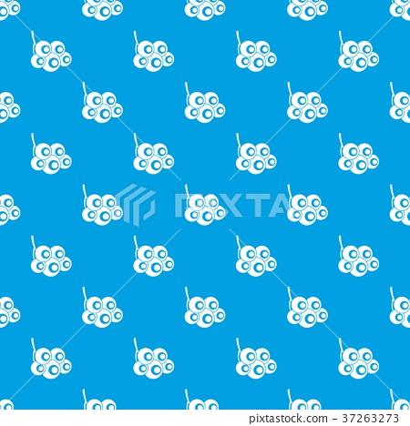 Viburnum branch pattern seamless blue 37263273