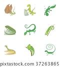 蜥蜴 图标 卡通 37263865