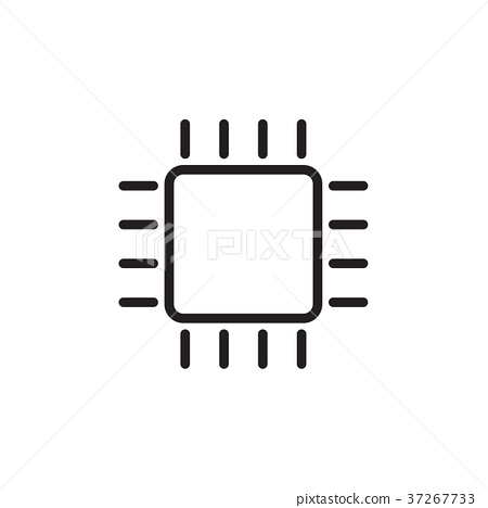 cpu vector icon vector eps 10 illustration style stock illustration 37267733 pixta cpu vector icon vector eps 10