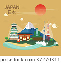 Japanese famous landmarks and tourist attractions 37270311