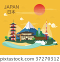 Japanese famous landmarks and tourist attractions 37270312