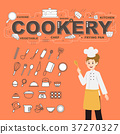 Cookery with food icons set illustration design 37270327