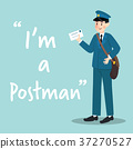 Postman character with letter 37270527
