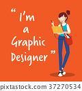 Graphic designer character with laptop 37270534