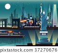 Statue of Liberty and landmarks in New York city 37270676