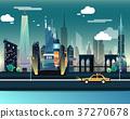 Statue of Liberty and landmarks of USA 37270678
