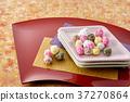 五色豆糖果 碟 盘 37270864