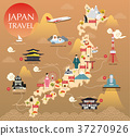 Japan landmark icons map for traveling 37270926