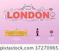 Attractive landmark icons for traveling in London. 37270965