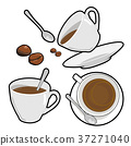 Coffee cup and bean 37271040