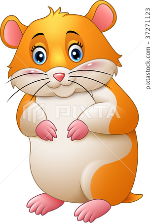 Cute hamster cartoon 37271123