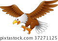 Cartoon eagle flying 37271125