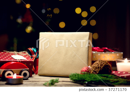 Christmas gift with decoration for festival 37271170