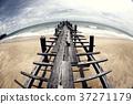 Wooden pier on the seaside landscape 37271179