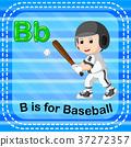 Flashcard letter B is for baseball 37272357