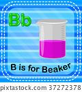 Flashcard letter B is for beaker 37272378