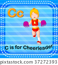 Flashcard letter C is for cheerleader 37272393