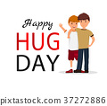Hug day background for banner, poster. Vector 37272886