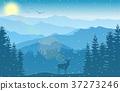 mountain landscape deer 37273246