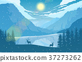 mountain landscape deer 37273262