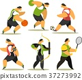 Athletes of various sports 37273992