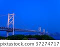 세토 대교 与島 PA에서 보는 세토 대교 야경 37274717