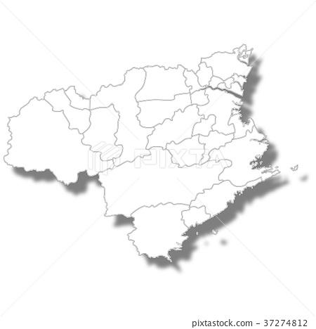 Tokushima map white icon 37274812