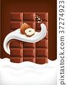 milk splash tongue with hazelnut and chocolate 37274923
