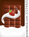 milk, chocolate, splash 37274925