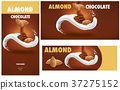 chocolate packaging with almonds 37275152