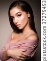 Beauty Woman face Portrait. Beautiful model Girl 37275453
