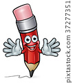 Cartoon Pencil Character  37277351
