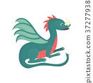 dragon, cartoon, vector 37277938
