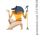 Anubis, an ancient Egyptian god, symbol of 37278038