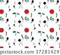 中國風山水畫背景-鶴 Seamless vector/crane/Chinese culture 37281429