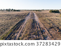 Country road in a barren landscape 37283429